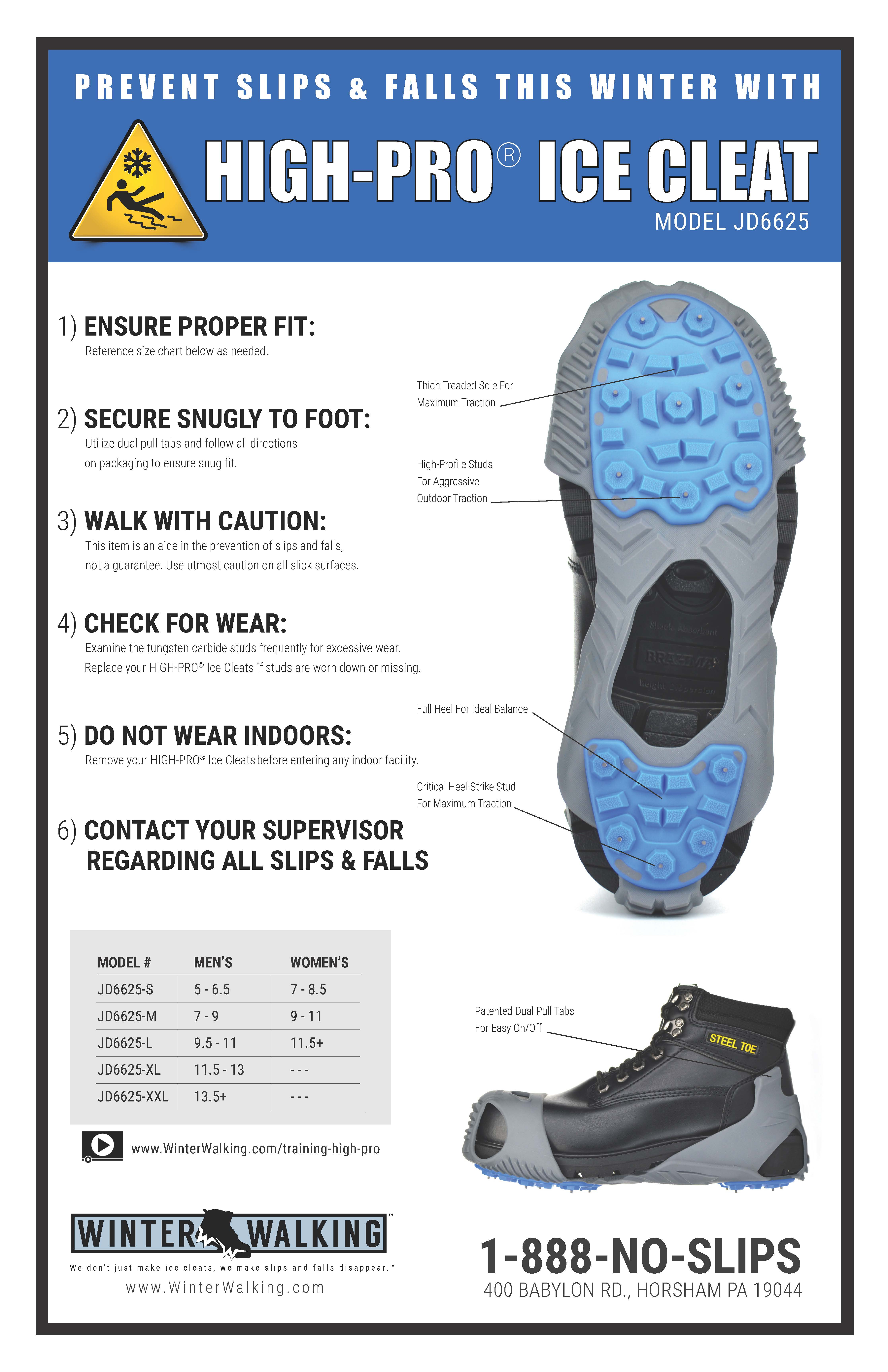 High Pro Ice Cleats - Training Poster