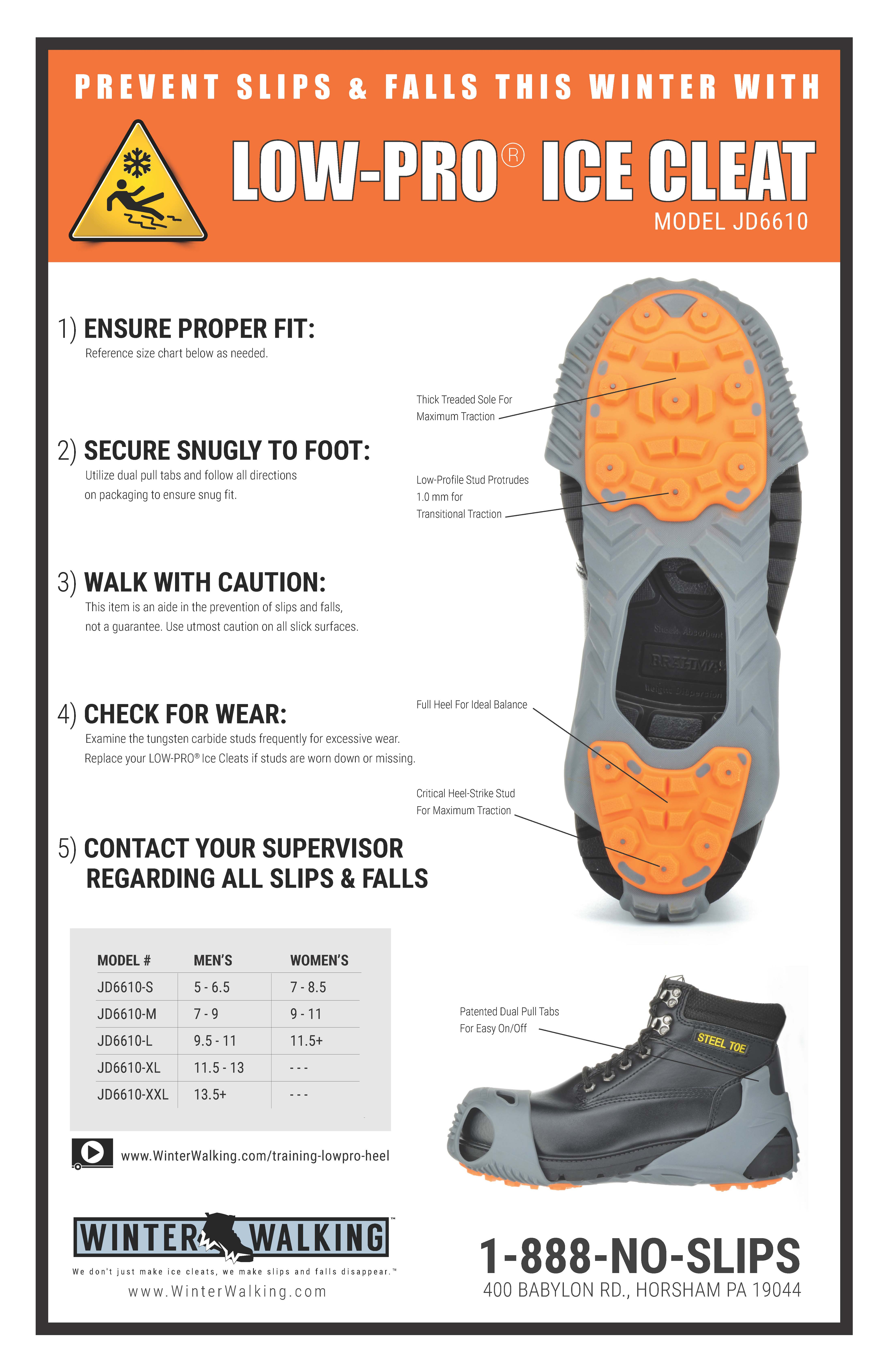 Low Pro Ice Cleats - Training Poster