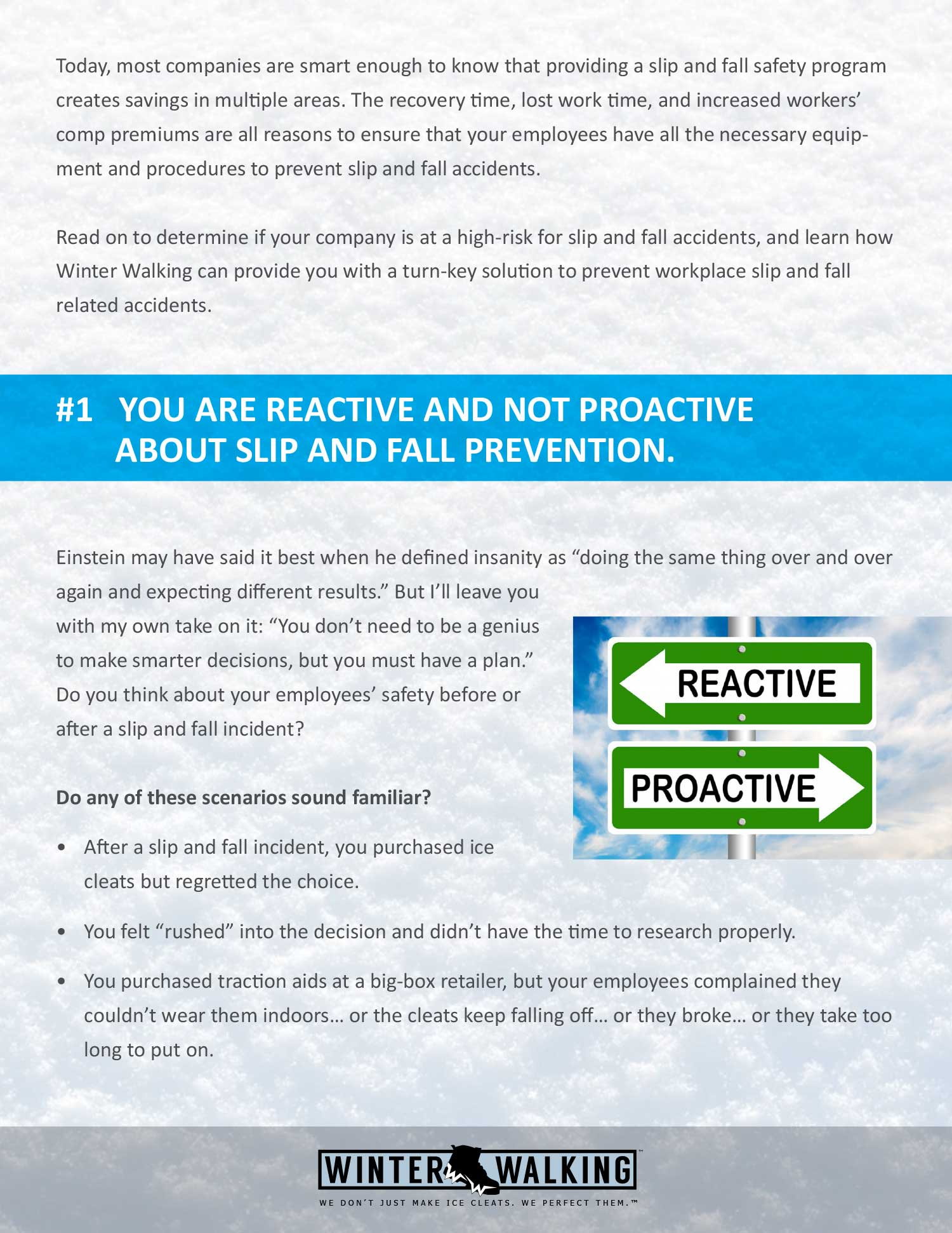 The Top 5 Reasons Why Your Company Needs A Slip & Fall Prevention Program.